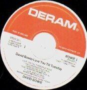 LP - David Bowie - Love You Till Tuesday