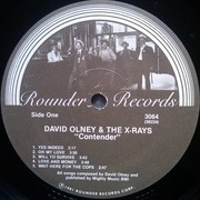 LP - David Olney And The X-Rays - Contender
