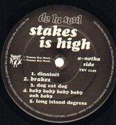 Double LP - De La Soul - Stakes Is High - Original 1st US