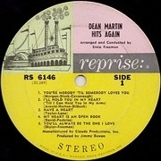 LP - Dean Martin - Dean Martin Hits Again