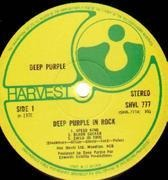LP - Deep Purple - In Rock - ORIGINAL UK NO EMI LOGOS ON LABELS