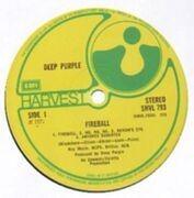 LP - Deep Purple - Fireball - UK Original textured + lyrics sheet