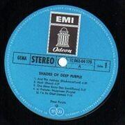LP - Deep Purple - Shades Of Deep Purple - BLUE ODEON, black circle