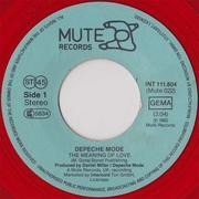 7'' - Depeche Mode - The Meaning Of Love / Oberkorn (It's A Small Town) - red vinyl