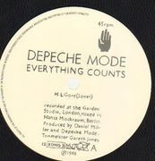12inch Vinyl Single - Depeche Mode - Everything Counts (In Larger Amounts)