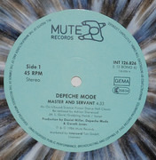 12inch Vinyl Single - Depeche Mode - Master And Servant (An ON-USound Science Fiction Dance Hall Classic) - Grey Marbled