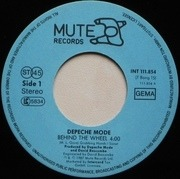 7'' - Depeche Mode - Behind The Wheel (Remix) / Route 66 - Walking Man logo