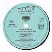 LP - Depeche Mode - Construction Time Again - Club Edition