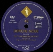 12'' - Depeche Mode - Get The Balance Right And Live Tracks - numbered