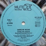 12'' - Depeche Mode - Shake The Disease (Remixed Extended Version) - grey marbled
