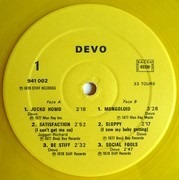 12'' - Devo - B Stiff - Yellow France