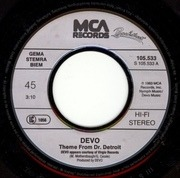 7'' - Devo / James Brown - Theme From Doctor Detroit / King Of Soul