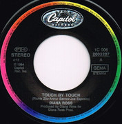 7inch Vinyl Single - Diana Ross - Touch By Touch / Fight For It