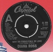 7'' - Diana Ross - Why Do Fools Fall In Love - Push Out Centre