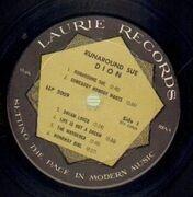 LP - Dion - Runaround Sue - USA ORIG  'Laurie Mastersound' logo