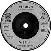 7inch Vinyl Single - Dire Straits - Walk Of Life - Silver Injection Moulded