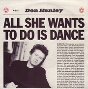 7inch Vinyl Single - Don Henley - All She Wants To Do Is Dance