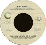7'' - Don Henley - All She Wants To Do Is Dance
