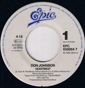 7'' - Don Johnson - Heart Beat