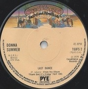 7'' - Donna Summer - Last Dance - Solid centre