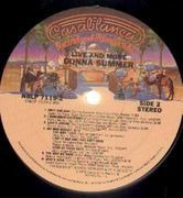 Double LP - Donna Summer - Live And More - Die Cut Cover