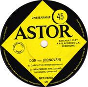 7inch Vinyl Single - Donovan - Catch The Wind - Original Australian EP