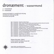7inch Vinyl Single - Dronæment - Wassermond - 2nd Edition, Green