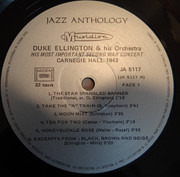 LP - Duke Ellington And His Orchestra - Carnegie Hall 1943 (His Most Important Second War Concert)