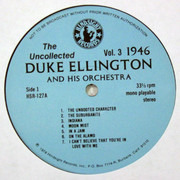 LP - Duke Ellington And His Orchestra - The Uncollected Duke Ellington And His Orchestra Volume 3: 1946
