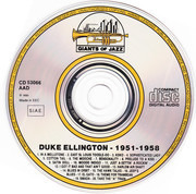 CD - Duke Ellington - Presents The Soloists Of His Orchestra 1951-1958
