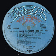 LP - Eagles - Their Greatest Hits 1971-1975 - Embossed Cover