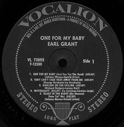 LP - Earl Grant - One For My Baby