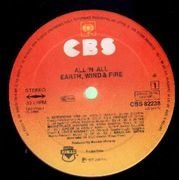 LP - Earth, Wind & Fire - All 'N All - + Poster