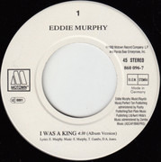 7inch Vinyl Single - Eddie Murphy - I Was A King
