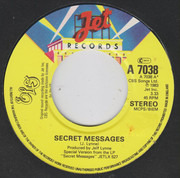 7inch Vinyl Single - Electric Light Orchestra - Secret Messages - Large centre