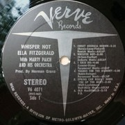 LP - Ella Fitzgerald With Marty Paich Orchestra - Whisper Not
