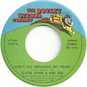 7inch Vinyl Single - Elton John & Kiki Dee - Don't Go Breaking My Heart