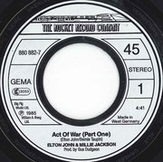 7inch Vinyl Single - Elton John & Millie Jackson - Act Of War