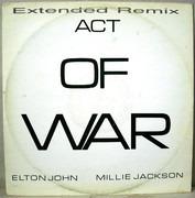 12inch Vinyl Single - Elton John / Millie Jackson - Act Of War