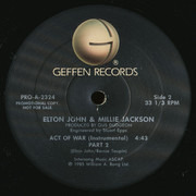 12inch Vinyl Single - Elton John / Millie Jackson - Act Of War - Promo