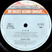 LP - Elton John - 21 At 33