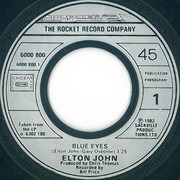7inch Vinyl Single - Elton John - Blue Eyes