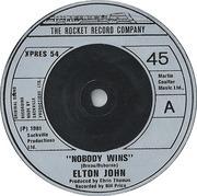 7'' - Elton John - Nobody Wins