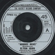 7'' - Elton John - Nobody Wins - Picture Sleeve