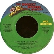 7'' - Elton John & Kiki Dee - Don't Go Breaking My Heart