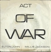 7'' - Elton John & Millie Jackson - Act Of War
