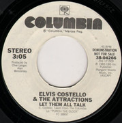 7inch Vinyl Single - Elvis Costello & The Attractions - Let Them All Talk