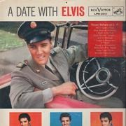LP - Elvis Presley - A Date With Elvis - Hollywood Pressing / Incl. Sticker