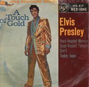 7inch Vinyl Single - Elvis Presley - A Touch Of Gold EP - Original Tri-Centre Pressing