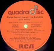 Double LP - Elvis Presley - Aloha From Hawaii Via Satellite - QUADRADISC